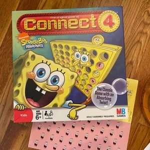 sponge bob game connect 4.  Preowned.  Lots of fun